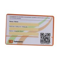 Cheap Full Color Plastic flat Barcode & QR code gift Card for promotion wholesale