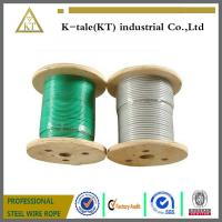 Cheap lifting 3mm pvc coated galvanized steel wire rope wholesale