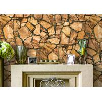 Buy cheap 3D Effect Stone Pattern Durable Popular Wallpaper For House Wall With Pvc from wholesalers