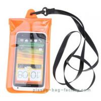 Cheap Soft PVC Waterproof Pouch Bag Colorful Cover Guaranteed Submersible To 19ft / 6m wholesale
