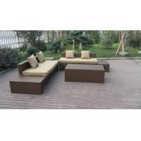 Plastic Rattan Furniture Soft Set With 100x100x70cm Middle Sofa