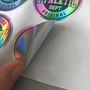 Cheap Custom Logo Printed Die Cut Hologram Laser Sticker Label wholesale