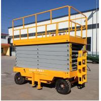 Buy cheap Rough Terrain Mobile Steel Painted Electric Scissor Lift With Aerial Work Platform from wholesalers