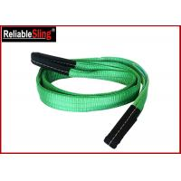 Cheap Green Ply Polyester Webbing Sling For Lifting Loads  , Eye And Eye Sling wholesale