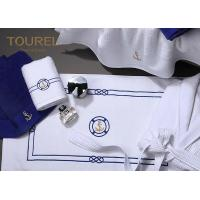 Cheap Cotton Bath Foot Towel For Developing Countries Blue Embroidery wholesale