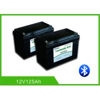 Buy cheap Patent Bluetooth Deep Cycle RV Battery , Lithium Camper Trailer Battery12V 125Ah from wholesalers