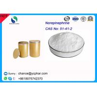 Cheap Prohormones Steroid Norepinephrine Bitartrate Raw Meterial Norepinephrine CAS 51-41-2 For Anti-shock wholesale