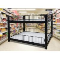 Cheap Two Layer Supermarket Display Shelving Supermarket Promotion Table With Storage Cabinet wholesale