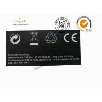 Cheap Back Ground Custom Logo Print Sticker Labels Synthetic Paper Black Color wholesale