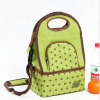 Cheap Green Travel Insulated Cooler Bags Keep Food Cold With Adjustable Shoulder Strap wholesale