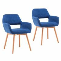 Cheap Soft Foam Modern Dining Armchair Club Guest With Solid Wood Legs OEM Available wholesale