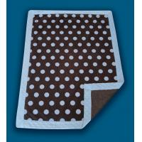 Cheap Giraffe Applique Polyester Baby Blanket , Anti - Microbial Newborn Baby Blankets wholesale