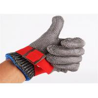 China SS304 Stainless Steel Safety Gloves , Metal Mesh Gloves For Cutting on sale