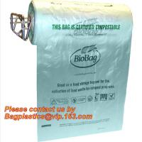 Cheap OEM/ODM Accepted Printed Compostable Die Cut Plastic Trash Bags EN13432 BPI OK Home ASTM D6400 Certified wholesale