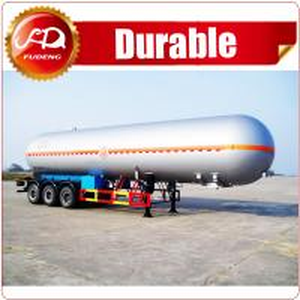 Cheap ASME standard Fudeng 52000 liters 3 axles lpg tank trailer price/ lpg gas tanker semi trailer for sale wholesale