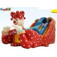 Cheap Kids Inflatable Colorful PVC tarpaulin Commercial Inflatable Slide with digital printing wholesale