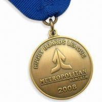 Cheap Metropolitan Medals with Antique Gold Medal and Blue Ribbon wholesale