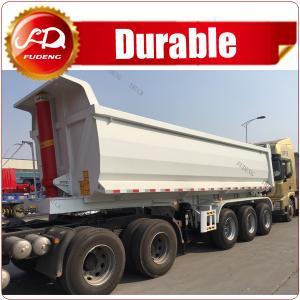 Cheap 3 axles Cylinder End Tipper Truck Trailer / 50 tons Rear Dump Tipper semi trailer wholesale