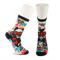 Cheap Adults  OEM Service  Breathbale Eco-friendly Custom Made Size 3D-Printing Socks wholesale