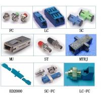 Cheap Long Flange FTTH LC fiber optical adapter DX with Metal Dust Cap Removable Shutter wholesale