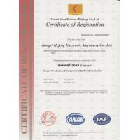 HEFENG COMPUTERIZED EMBROIDERY MACHINES LIMITED Certifications