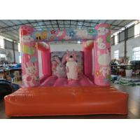 Cheap Custom Made Inflatable Small bouncer Pink inflatable rabbit Jump house on sale wholesale