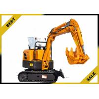 Cheap 800kg Crawler Hydraulic Excavator 340mm Bucket Width , Road Digging Machine For Farm Use wholesale