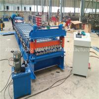Cheap PPGI GI Metal Roofing Sheet Roll Forming Machine With No.45 Steel Rollers wholesale