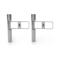 Cheap 168mm Column Clear Toughened Glass Swing Turnstile Face Recognition wholesale