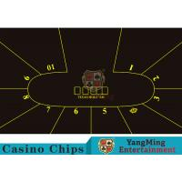 Cheap Good Resilience Casino Table Layout High Density Black Color With Crown Logo wholesale