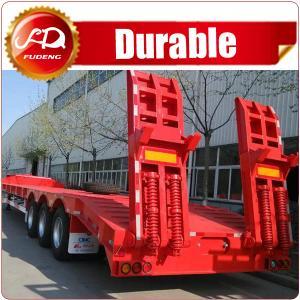 Cheap CIMC 60t heavy duty excavator transport tri-axle low bed semi trailer wholesale