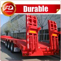 Buy cheap CIMC 60t heavy duty excavator transport tri-axle low bed semi trailer from wholesalers