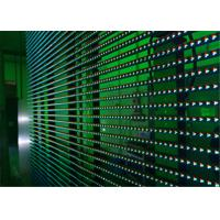 Cheap Flexible LED Video Display Screens , Strips Transparent Wall Facades Screens wholesale