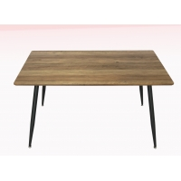 Cheap Nature Wood Grain Veneer 25mm Mdf Dining Table With Anti Slid Pads wholesale