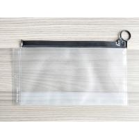 Cheap Plastic Reusable Ziplock Bags , Frosted PVC Slider Bags With Ring Puller Easy To Open wholesale