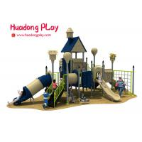 Cheap Children Outdoor Playground Slides , Plastic Material Kids Outdoor Playground With Slide wholesale