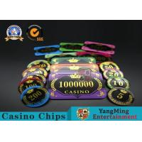 Cheap Acrylic Crystal RFID Rectangular Poker Chips Plaque Casino Jeton Real Gaming wholesale