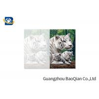 Cheap Lovely Animals 3D Image Lenticular Card Printing Two Sides CMYK Offset Printing wholesale