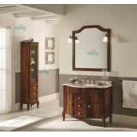 Cheap Waterproof Solid Wood Transitional Bathroom Vanities With Left Or Right Side Cabinet wholesale