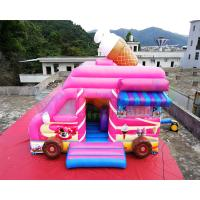 Buy cheap Ice Cream Truck Commercial Bounce House 0.55mm PVC Inflatable Bouncer from wholesalers