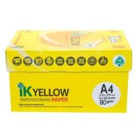 Quality IK Yellow copy Paper A4 80gsm/75gsm/70gsm for sale