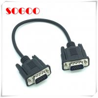 Cheap VGA Panel Mount Extension Cable 0.3M DB15 Male To DB15 Male OEM / ODM Accept wholesale