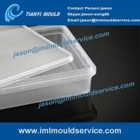 Cheap take away rectangular food containers mould, plastic disposable containers with lids molds wholesale