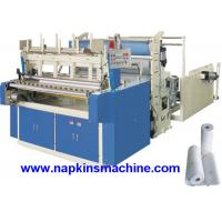 Cheap Horizontal Jumbo Roll Toilet Paper Roll Making Machine , Electric / Pneumatic Control wholesale
