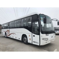Cheap Low Kilometer Airbag Chassis Euro III Good Condition Double Doors Used Coach Bus Higer Brand Model KLQ6129 53 Seats wholesale