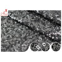 Cheap Shiny Embroidered Black Sequin Mesh Fabric For Party Evening Dress R&D Available wholesale