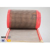 Buy cheap Brown PTFE Coated Fiberglass Mesh Fabric Conveyor Belt 4X4 mm from wholesalers