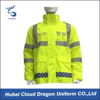 Cheap Reflective Yellow Waterproof Warm Traffic Police Hi Vis Jackets for sale