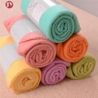 Cheap Portable Soft Travel Blanket Solid Color Polar Fleece With belly cards package wholesale