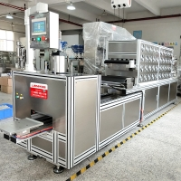 Cheap New Automatic Cosmetic Crystal Eye Mask Filling Machine Forming Line For Skin Care Eye Patches Gel wholesale